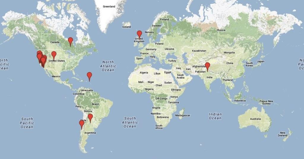 Locations World Map