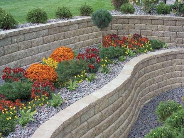Retaining Wall Steps Album 2 garden retaining wall design